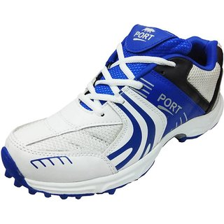 Triqer Cricket Royal Blue White Shoes