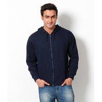 Weardo Blue Hooded Men's Sweatshirt