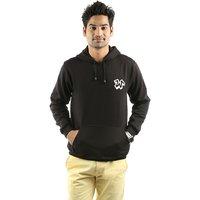 Weardo Black Stylish Hooded Men's Sweatshirt