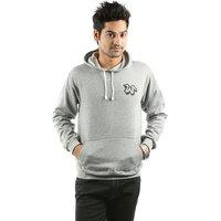 Weardo Grey Stylish Hooded Men's Sweatshirt