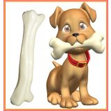 Hard Solid Bone- Toy For Your Pet, Give Your Dog/puppy Qty-:2