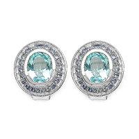 7.70CTW Genuine Blue Topaz & Tanzanite .925 Sterling Silver Earrings