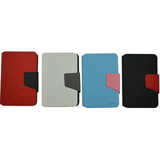 Flip Case For Samsung P 3100 / Galaxy Tab2 / Pink & Blue Base Color
