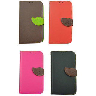 Leather Flip Case For N 7100 / Galaxy Note 2 / Brown Color
