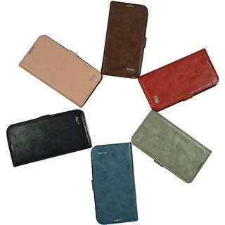 Flip Case For iPhone 5 / 5 S / Brown Color
