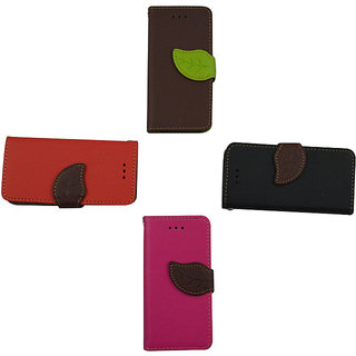 Leather Flip Case For S 3 / Brown Color