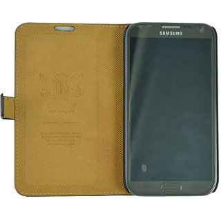 Flip Case For N 7100 / Galaxy Note 2 / Black Color