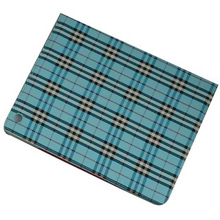 I Pad Case For All Ipads - Checks Design / Blue Color