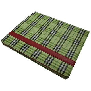 I Pad Case For All Ipads - Checks Design / Green Color