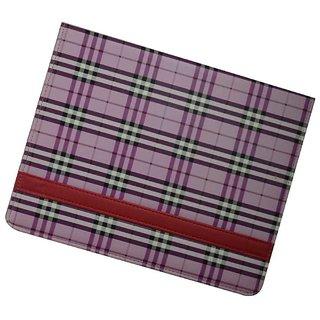I Pad Case For All Ipads - Checks Design / Purple Color