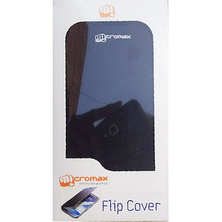Micromax A67 Flip Cover Black available at ShopClues for Rs.179