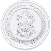 Ganesh impression 5 gms Silver Coin - 999 Purity ACPL Jewels