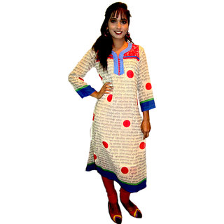 Off White Long kurti