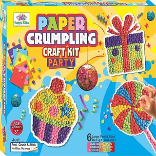 art and craft paper crumpling craft kit for kids. Black Bedroom Furniture Sets. Home Design Ideas