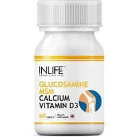 INLIFE Glucosamine Sulphate MSM, Calcium Vitamin D3, 60 Tablets For Knee Care