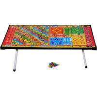 Multipurpose Ludo Table with educational table back side