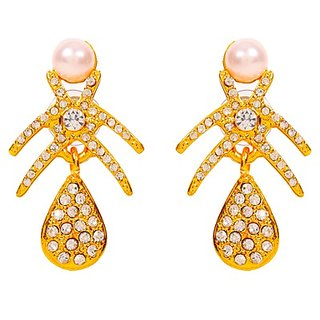 Touchstone Stunning Gold Plated Earrings