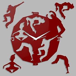 Creative Width Dancing Souls Red Wall Clock