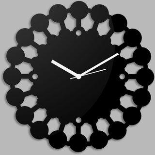 Creative Width Chakras  Black Wall Clock