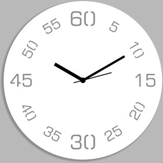 Creative Width Point Sixty White Wall Clock
