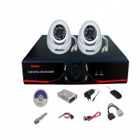 SET OF 2 PC 850 TVL 20 MTR NIGHT VISION CCTV CAMERA + 4 CH DVR + REQ. CONNECTORS