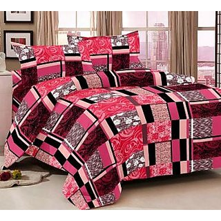 Story@Home Pink 100% Cotton Magic 1 Double Bedsheet -MG1283