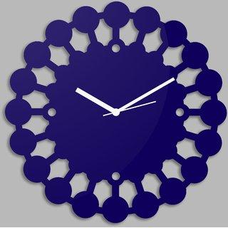 Creative Width Chakras  Blue Wall Clock
