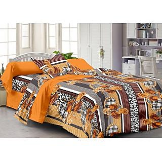 Story@Home Brown 100% Cotton Fantasy 1 Single Bedsheet-FY1204