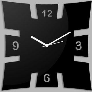 Creative Width Brick Style Black Wall Clock