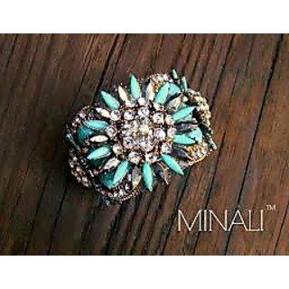 Turquoise Flower Cuff Bracelet