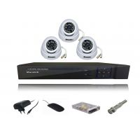 Kit Of 3 Pc 24 Ir Indoor Dome Cctv Security Camera + 4 Ch Dvr + Req. Connectors