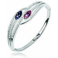 Multicolour Austrian Crystal Elegant Bracelet