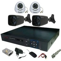 2 IN + 2 OUT DOOR NIGHT VISION SECURITY CCTV CAMERA + 4 CH DVR + COMBO OFFER