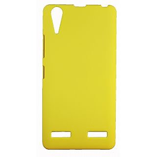 Fcs Ruberrised Hard Back Case For Lenovo A6000 In Matte Finish-Yellow