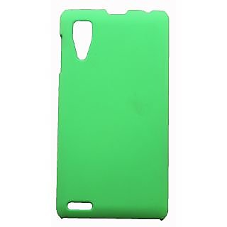 Fcs Rubberiased Hard Back Case For  Lenovo P780 In Matte Finish-Green