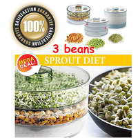 New 3 In 1 Bowls Sprout Makers 3-Beans Hygienic, Large, Container
