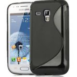 Black S Line Soft Tpu Gel Back Case Cover Skin For Samsung Galaxy S Duos S7562
