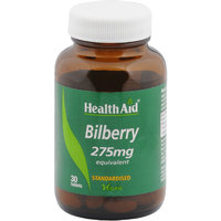 HealthAid Bilberry Tablets 275mg 30 Tablets