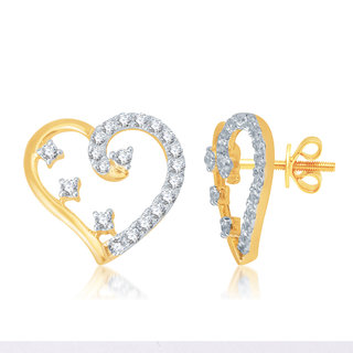 Jewel Pride 18 K Gold Earring set with Diamonds