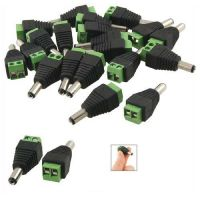 12 Pcs DC Power Male Jack Connector Plugs For CCTV Camera DVR