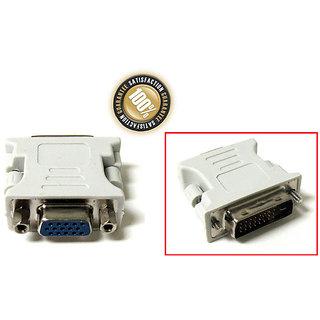 24+1 DVI Pin Male to 15 Pin VGA Female Convertor Adapter DVI-D