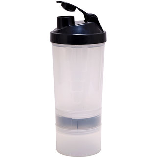 Shaker Bottle - 3 Compartment Protein Shaker