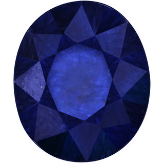 Vardan Gems 4.92ct Oval Dark Blue Sapphire (Neelam) Birthstone Gemstone