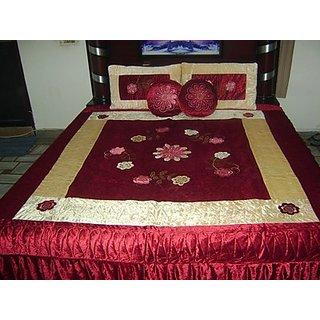 Double Bed Quilt- Poly Velvet & Dupion Silk - Florina Design