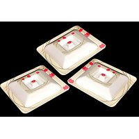 Set Of Three Melamine Dongas With Lids - Design 15