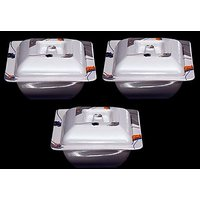 Set Of Three Melamine Dongas With Lids - Design 16