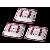 Set Of Three Melamine Dongas With Lids - Design 18