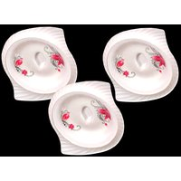 Set Of Three Melamine Dongas With Lids - Design 20