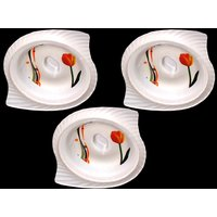 Set Of Three Melamine Dongas With Lids - Design 22