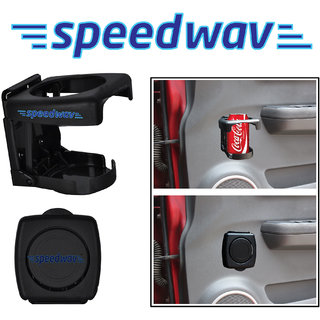 Speedwav Foldable Car Drink / Can / Glass / Bottle Holder Black